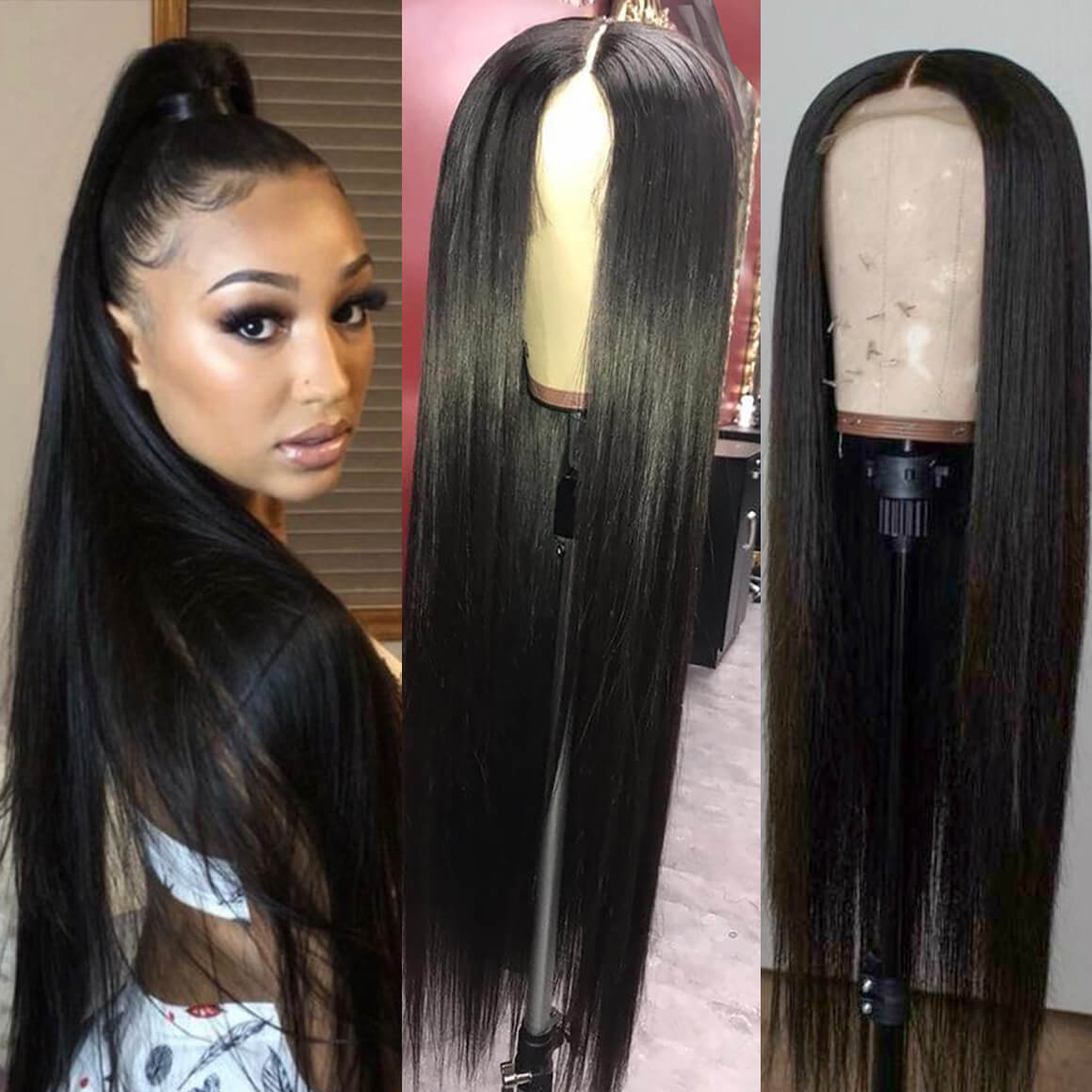 20 40 Inch Long Straight Lace Front Wigs Human Hair Asteriahair